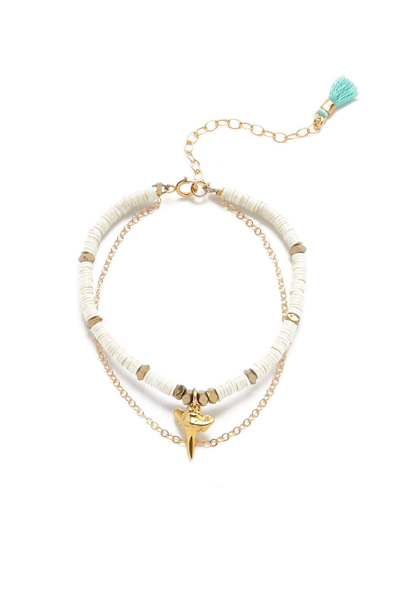 Austin Bikini Exclusive Bracelet Set - Gold & Ivory White
