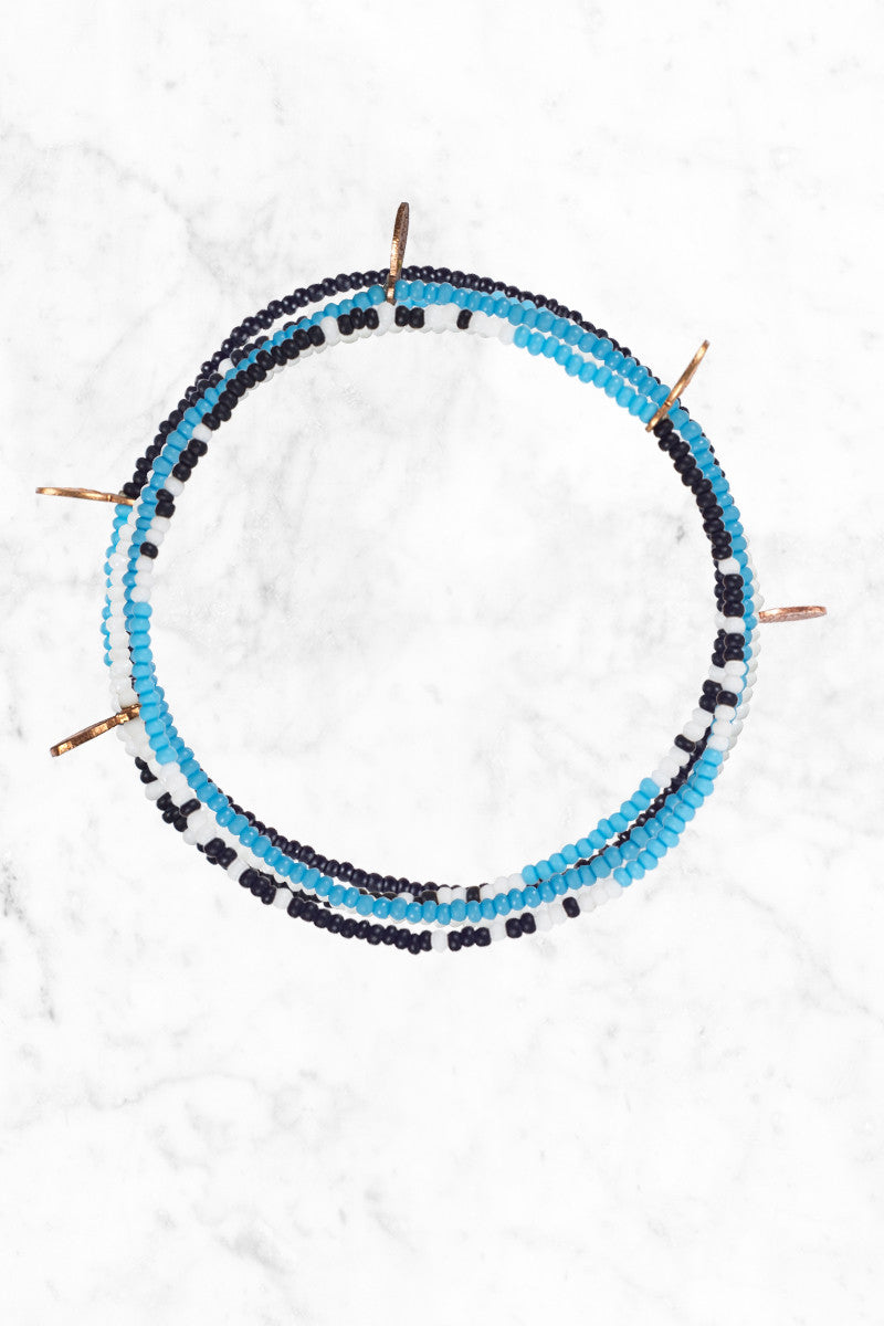 BEAD RELIEF Stoked Bracelet Accessories | blue/black/white| bead relief stoked