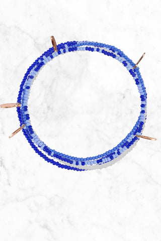 BEAD RELIEF Water.Org Bracelet Accessories | White/Blue/Royal|