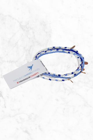BEAD RELIEF Project Angel Food Bracelet Accessories | White/Blue/Royal|