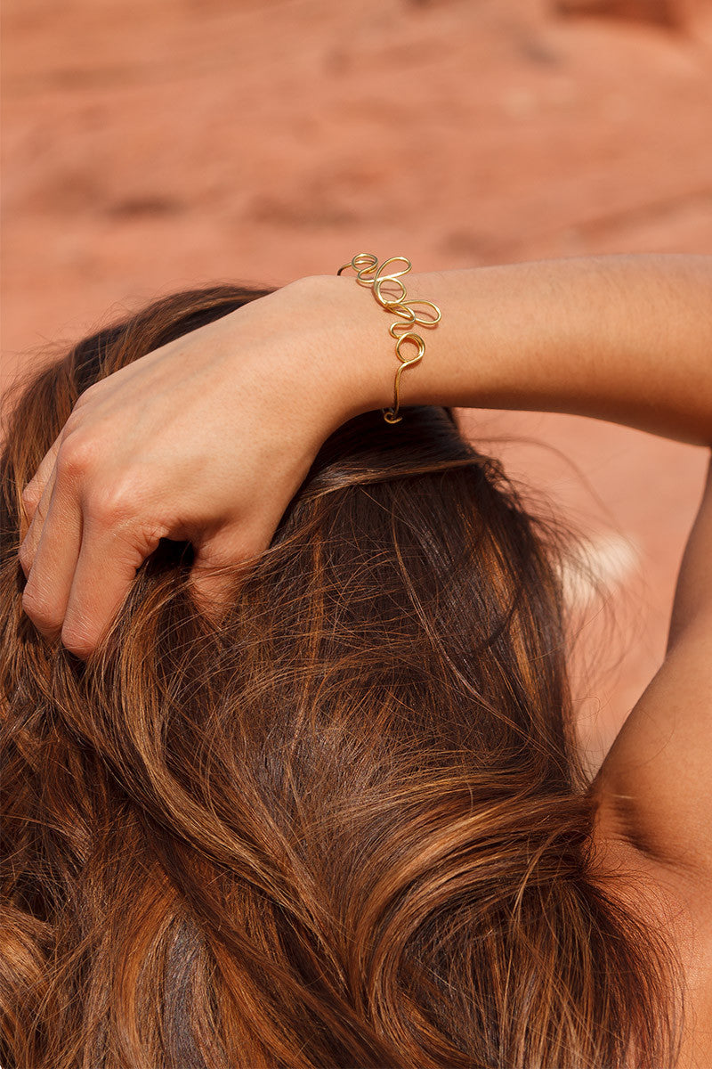 BTW Hand Made Aloha Bracelet Jewelry | Gold|
