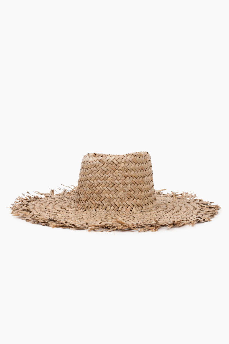 Burma Straw Sun Hat - Dark Tan