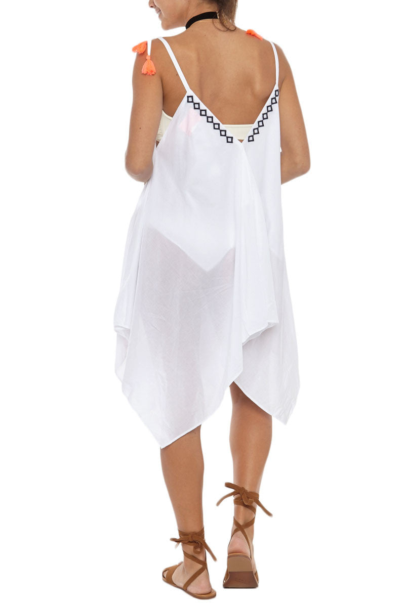BASTA SURF Santorini Dress Cover Up | White Eyelet|Basta Surf Santorini Dress