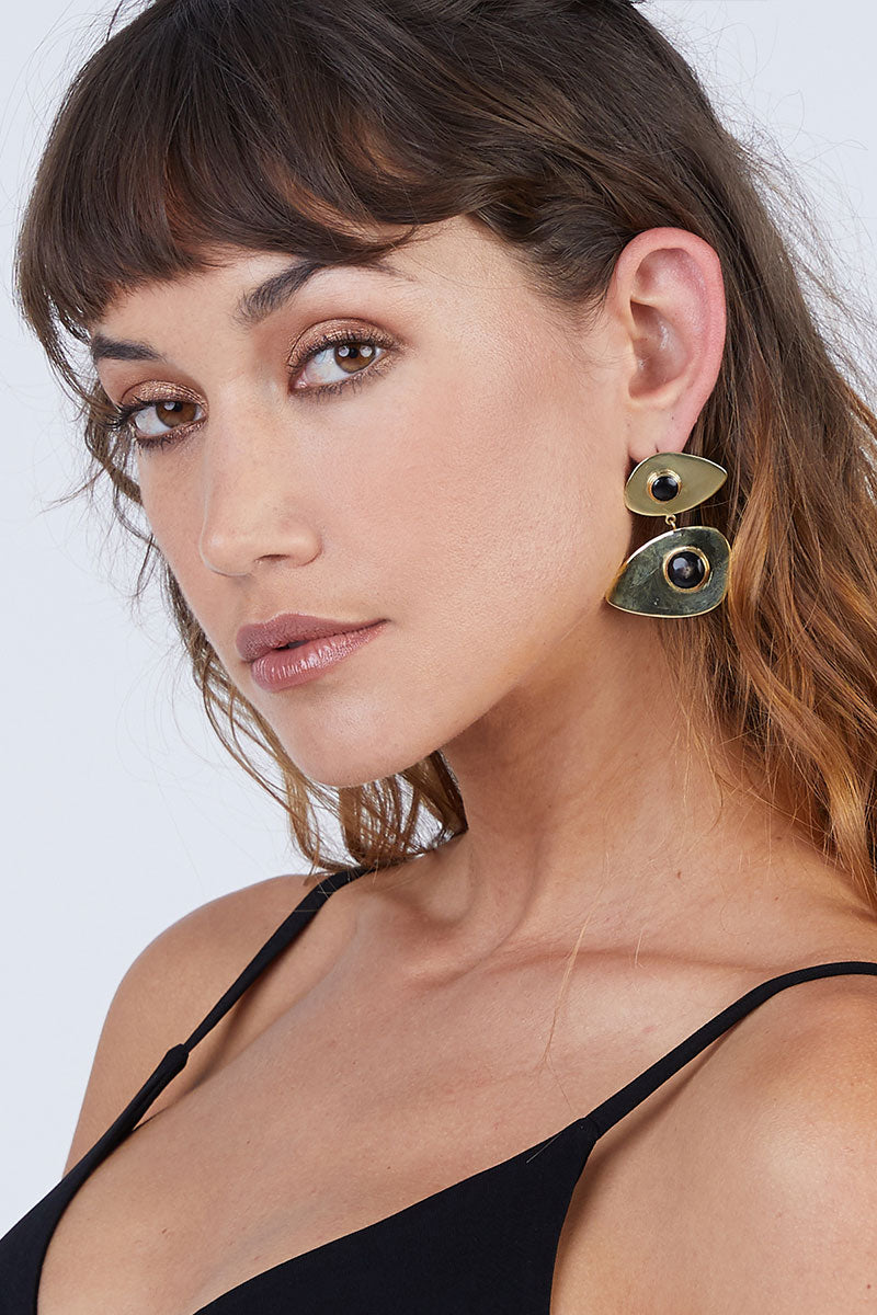 Bata Statement Earrings - Black