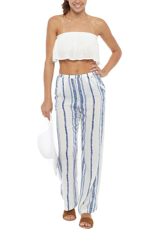BEACH GOLD Wayfare Top Cover Up | Capri| Beach Gold Drift Pant