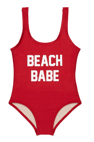 PRIVATE PARTY KIDS BEACH BABE One Piece Kids One Piece | Red| Private Party Kids BEACH BABE One Piece