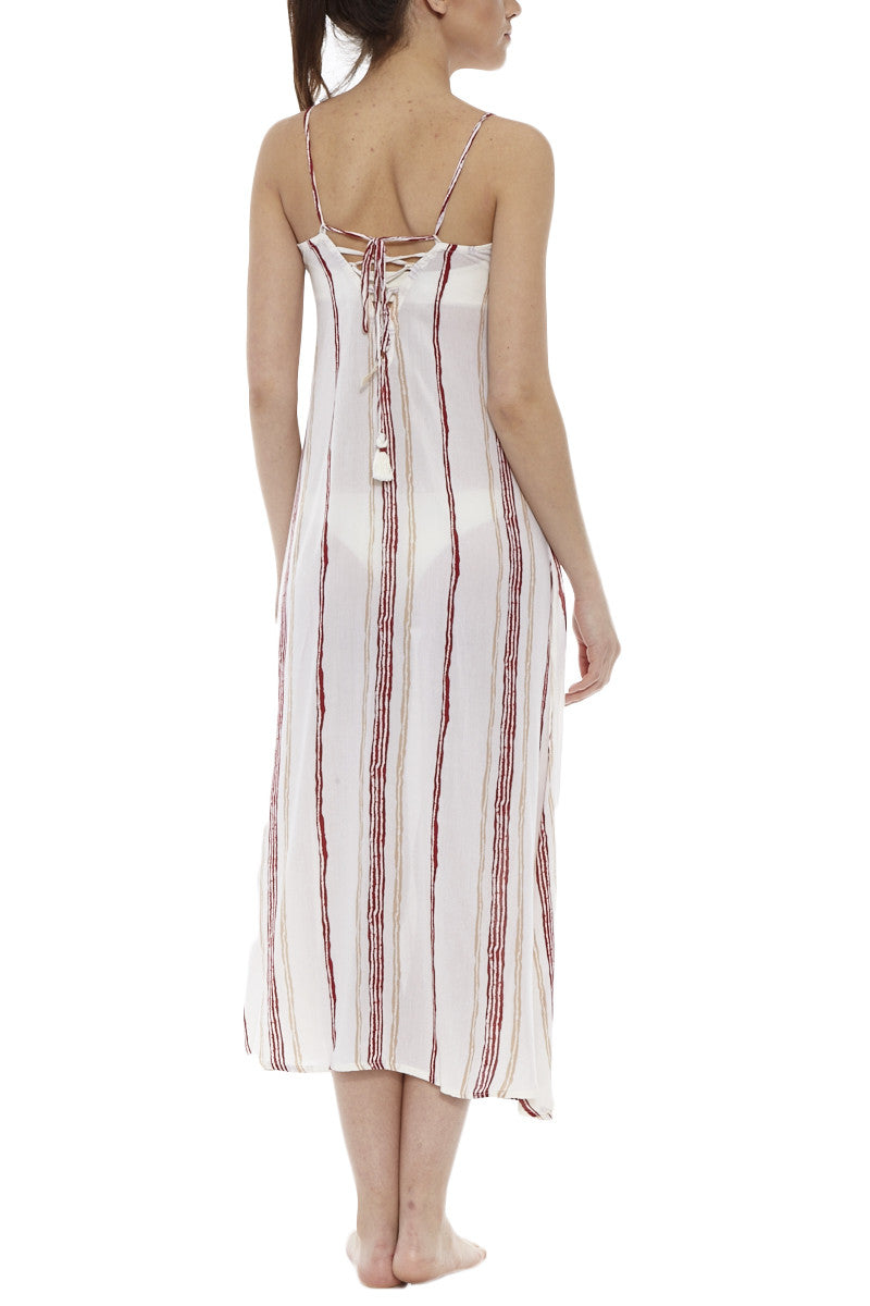 BEACH GOLD Drift Playa Midi Cover Up | Rouge| Beach Gold Drift Playa Midi