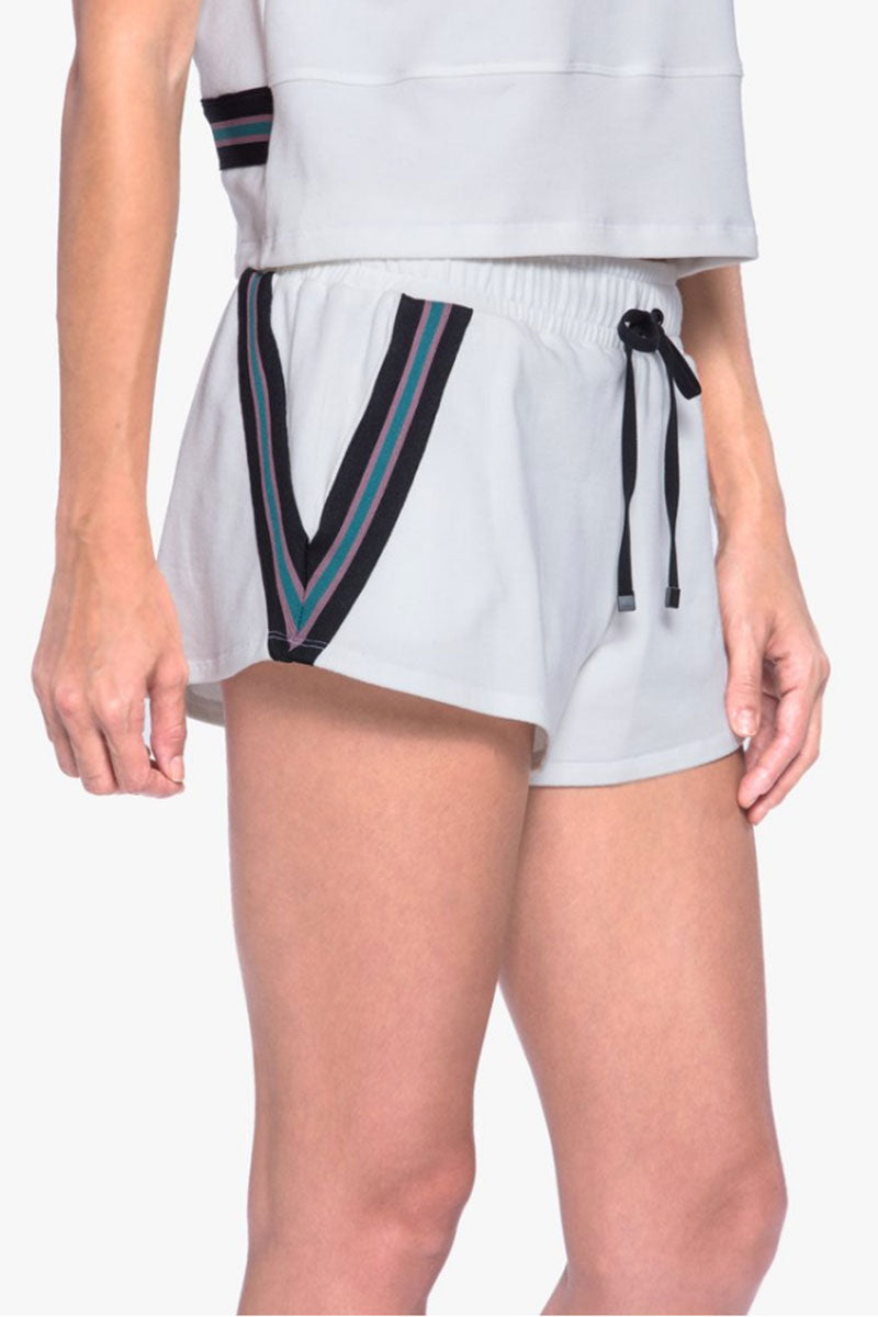 Beam Drawstring Terry Shorts - White