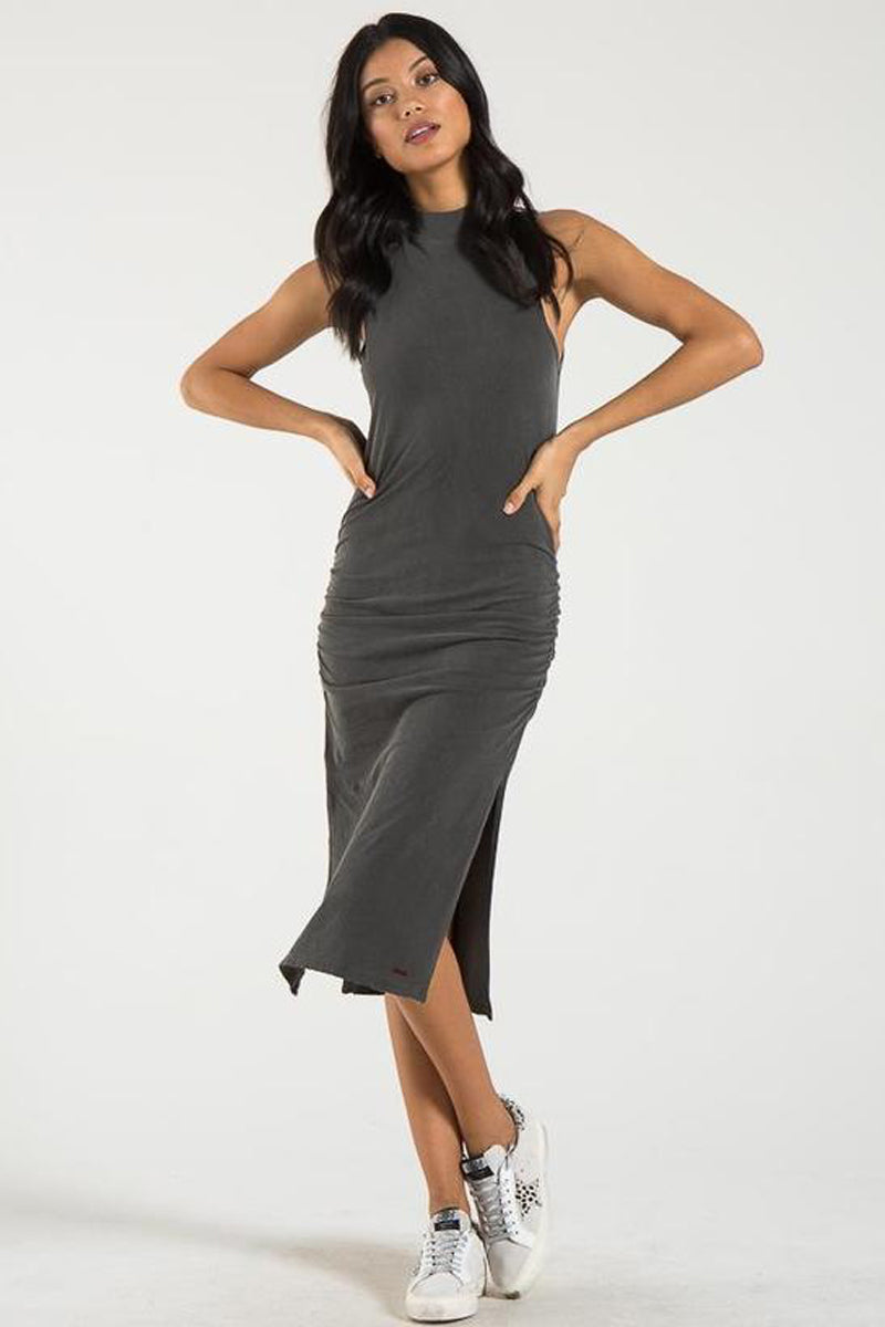 Bellflower Sleeveless Midi Dress - Ghost Grey