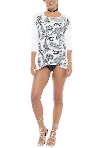 BIKINI.COM Pineapple Top Cover Up | Pineapple Print| Bikini.com Pineapple Top