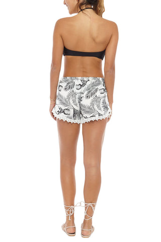 BIKINI.COM Pineapple Shorts Cover Up | Pineapple Print|Bikini.com Pineapple Shorts