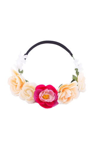 BIKINI.COM Pink & Peach Floral Crown Accessories | Pink/Peach|