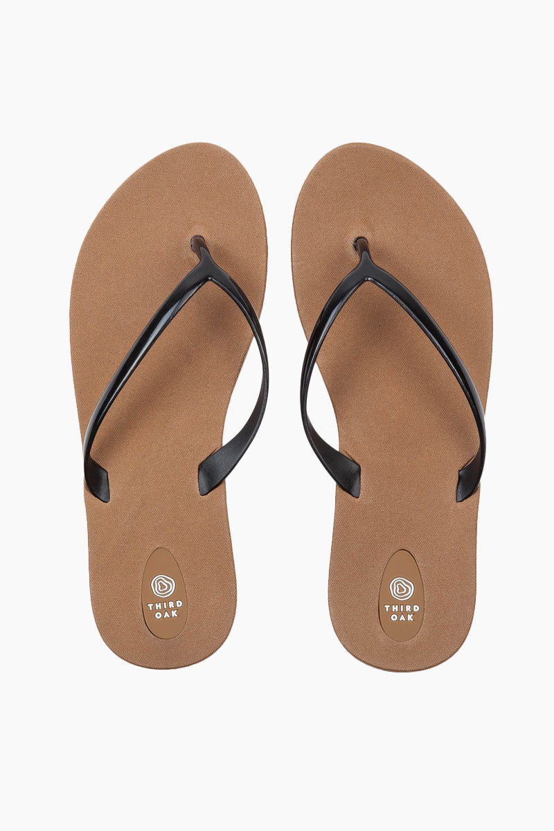 Scout Black Sole Sandals - Tan/Black