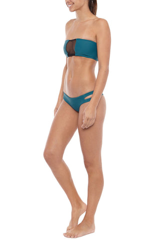 BLACK BOX SWIM Rhonda Mesh Bandeau Top Bikini Top | dive| Black Box Swim Rhonda Mesh Bandeau Bikini Top