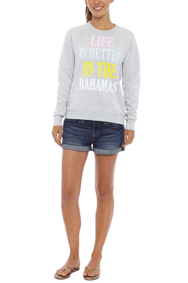 BlaineBowen BahamasSweater Front Bahamas Long Sleeve Sweatshirt 8211 Light Grey