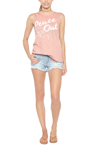 BLAINE BOWEN Peace Out Tank Resort Top | Blush| Blaine Bowen Peace Out Tank