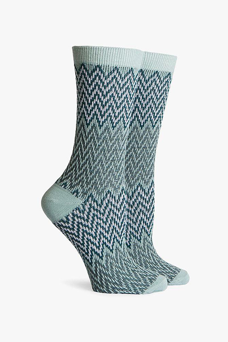 Current DC Crew Socks - Blue & Yellow Chevron Print