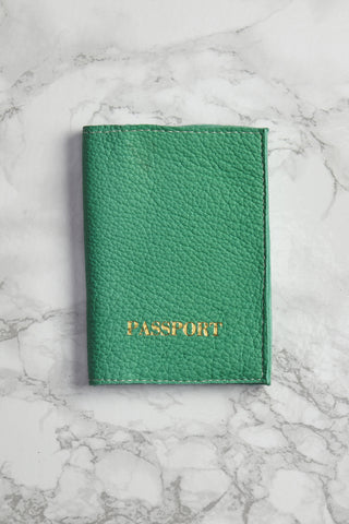 BLYTHE LEONARD Sea Green Passport Cover Accessories | Sea Green| Blythe Leonard Passport Cover