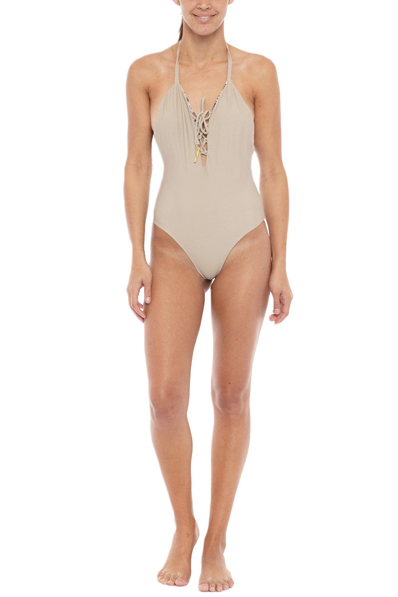 BOCACHICA Reversible Mallorca One Piece One Piece | Cream| Bocachica Reversible Mallorca One Piece