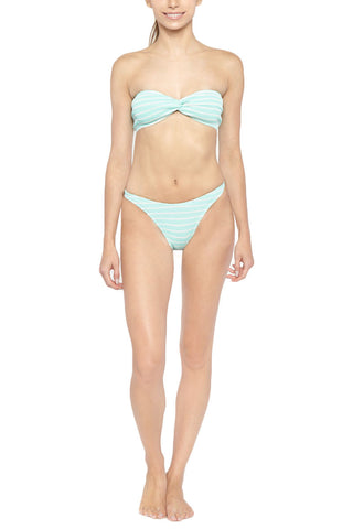 BOND-EYE The Mimosa Bottom Bikini Bottom | Seafoam/White| Bond-Eye The Mimosa Bikini Bottom