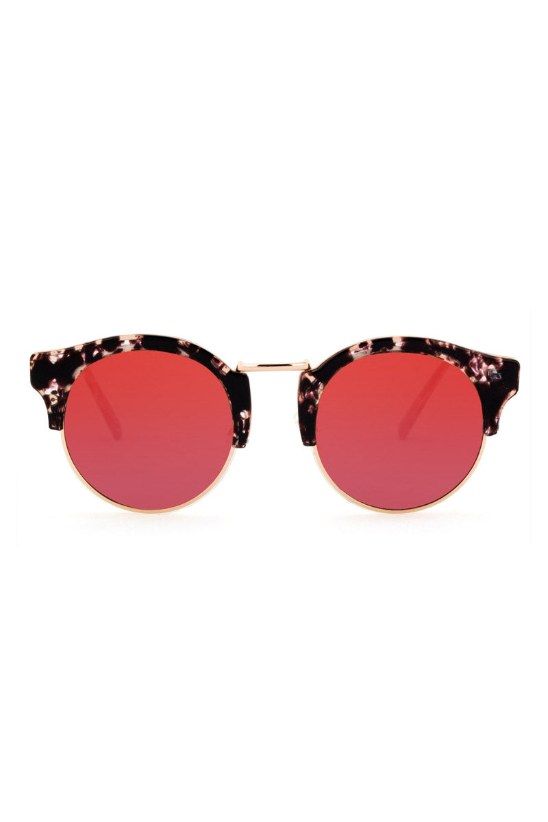 The Broadway Sunglasses - Lovesick Red