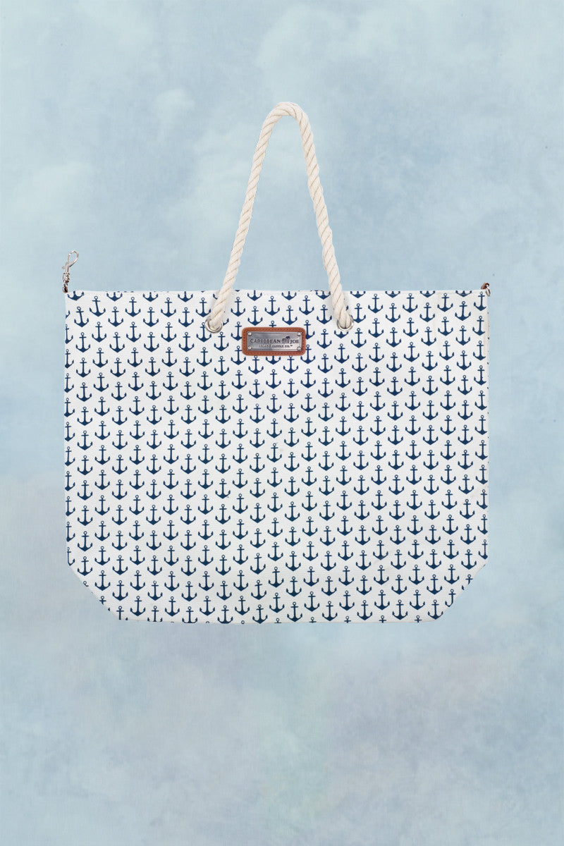 SUN N SAND Anchors Away Tote Tote | Navy Anchor|