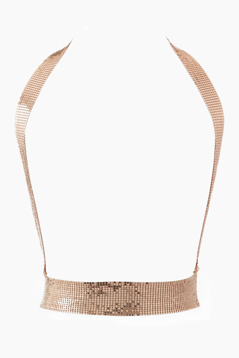 Chainmaille Harness Bodychain - Rose Gold
