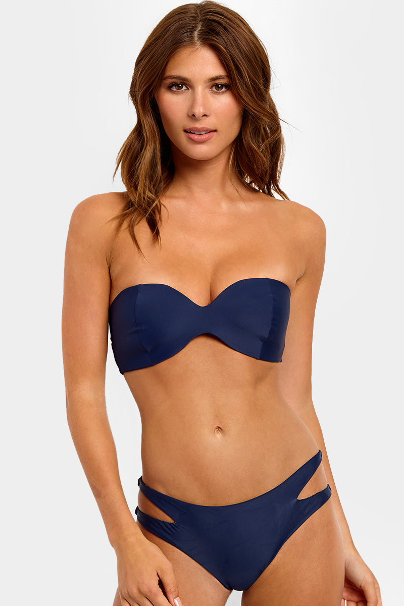 Coconut Top Catch Of The Day 1 Coconut Bandeau Bikini Top 8211 Catch Of The Day Blue