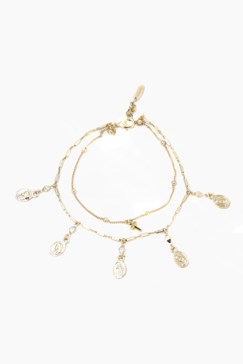 Coin Duster Anklet - Gold