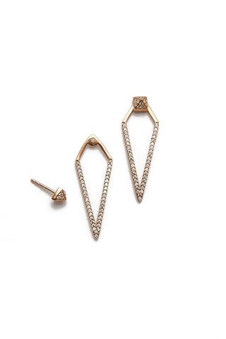 BLAINE BOWEN Colette Stud Earrings Accessories | Rose Gold| Blaine Bowen Colette Stud Earrings