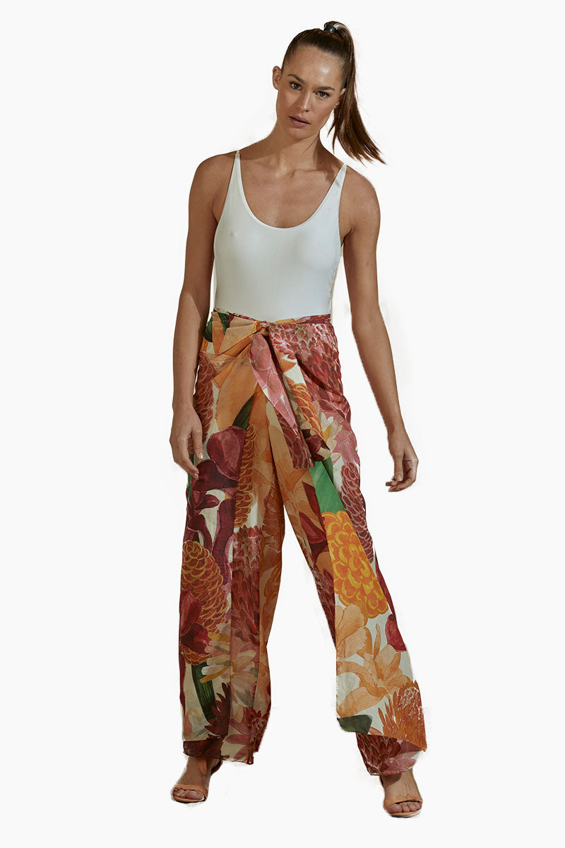 Cotton Pants - Beach House Print
