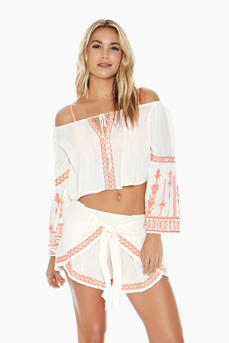 Crawford Off The Shoulder Top - Ivory White