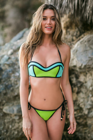 DEL MAR BY BERJHENY Abey Bottom Bikini Bottom | Lime|Talita