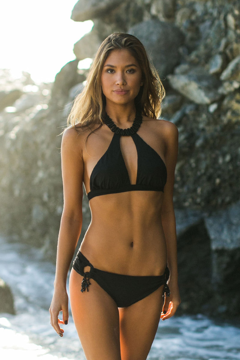 DEL MAR BY BERJHENY Alayna Bottom Bikini Bottom | Black|Jocelyn