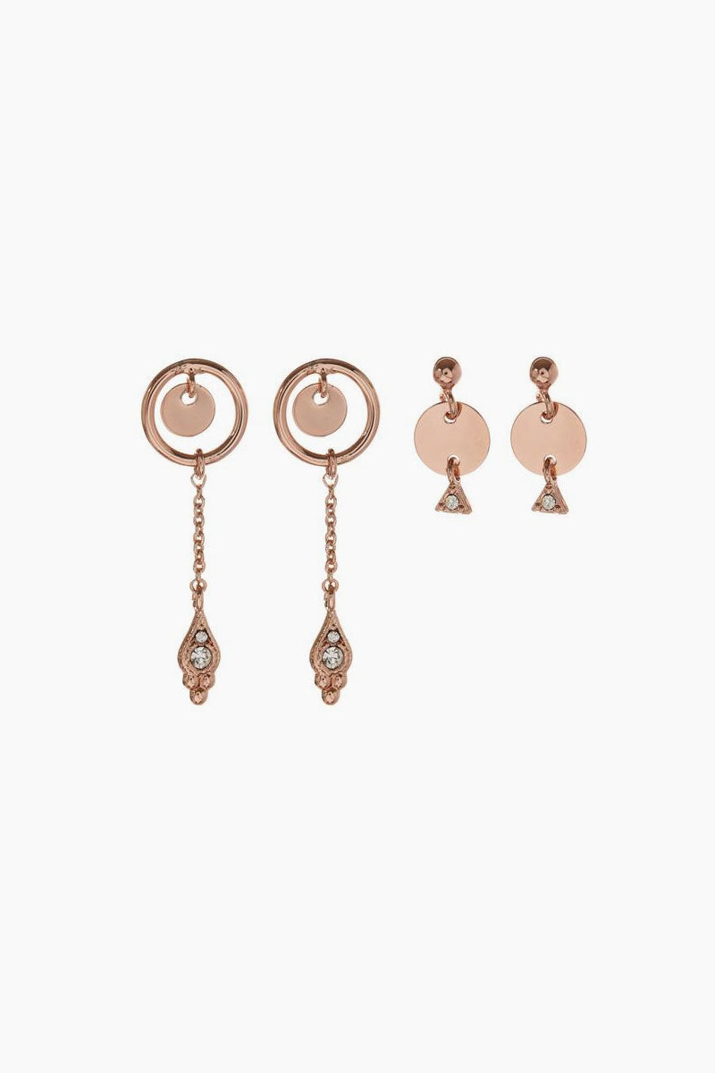 The Disco Fever Mini Hoops - Rose Gold