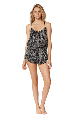 DOLCE VITA Rough & Tumble Romper Cover Up | Rough And Tumble Black| Dolce Vita Rough & Tumble Romper