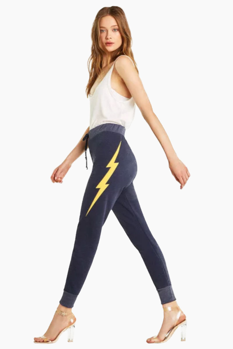 Electric Jack High Waist Jogger - Oxford Blue