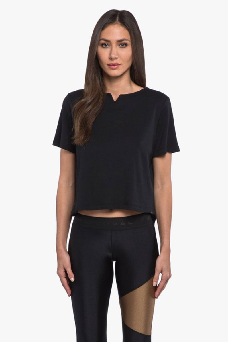 Eloquence Arlo Crop Top - Black
