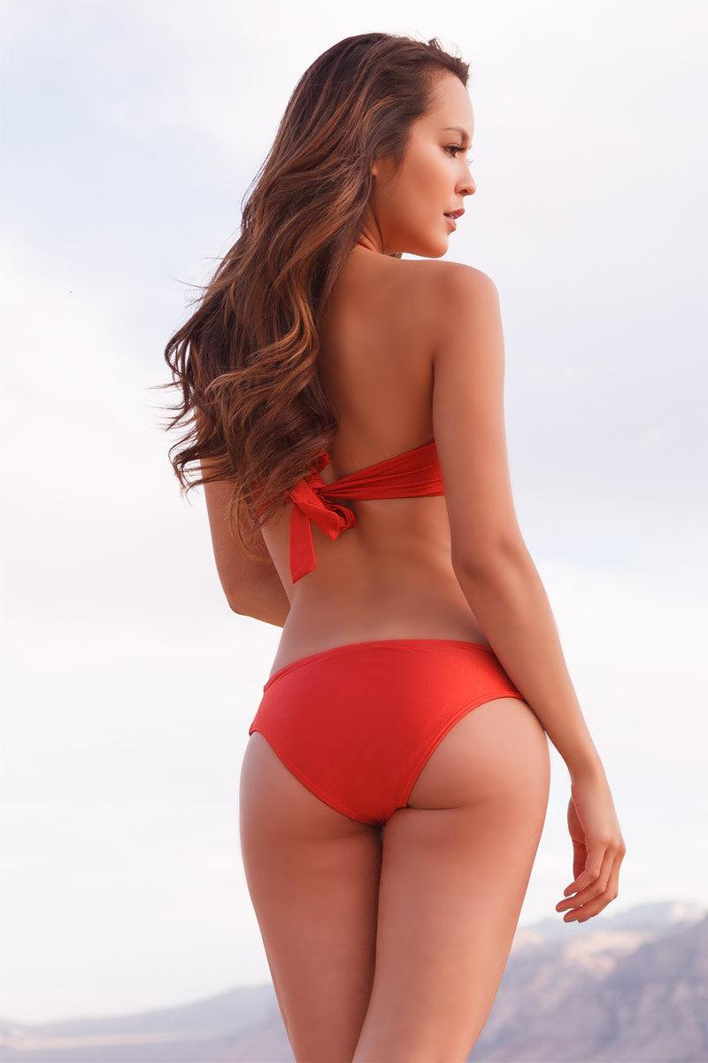 ENVYA Full Bottom Bikini Bottom | Burnt Orange|Catherine