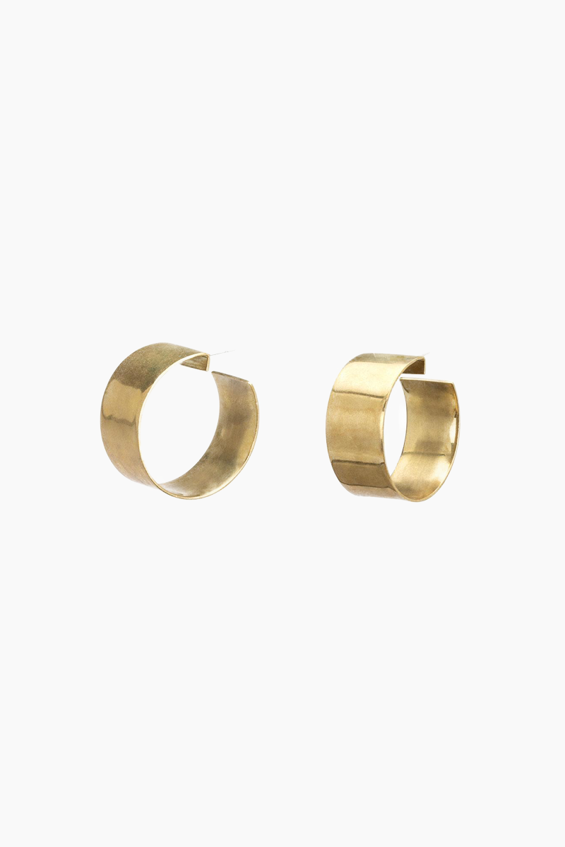 Esmeralda Hoop Earrings - Brass