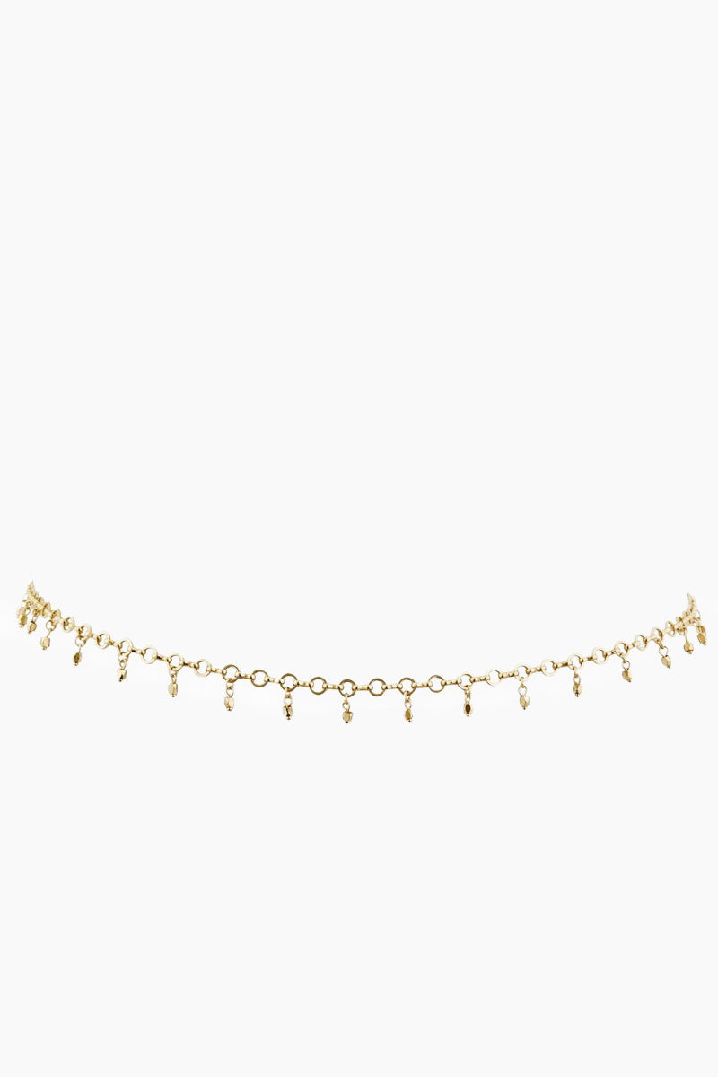 Faceted Bead Belly Chain - Gold