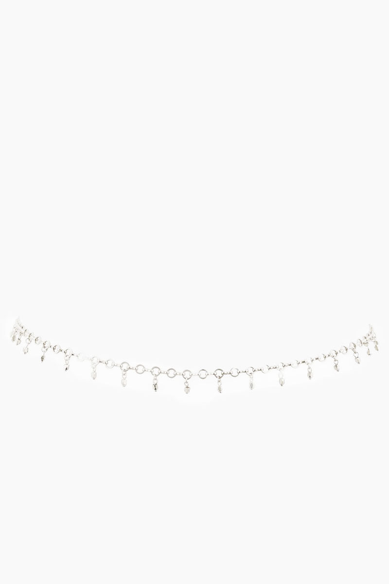 Faceted Bead Belly Chain - Silver