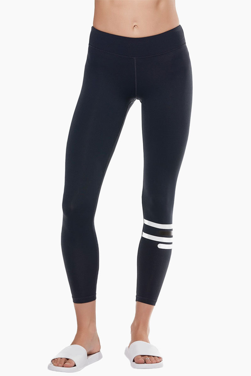 Fleur Mid Rise Leggings - Midnight Zero Black