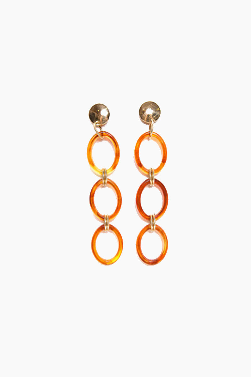 Frisco Hoop Chain Earrings - Gold