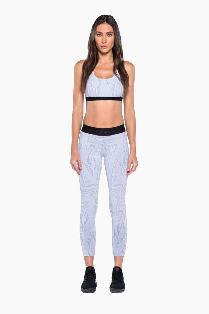 Tax Banded Sports Bra - White Galaxy