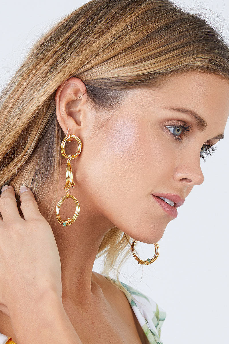 Geo 3 Earrings - Gold