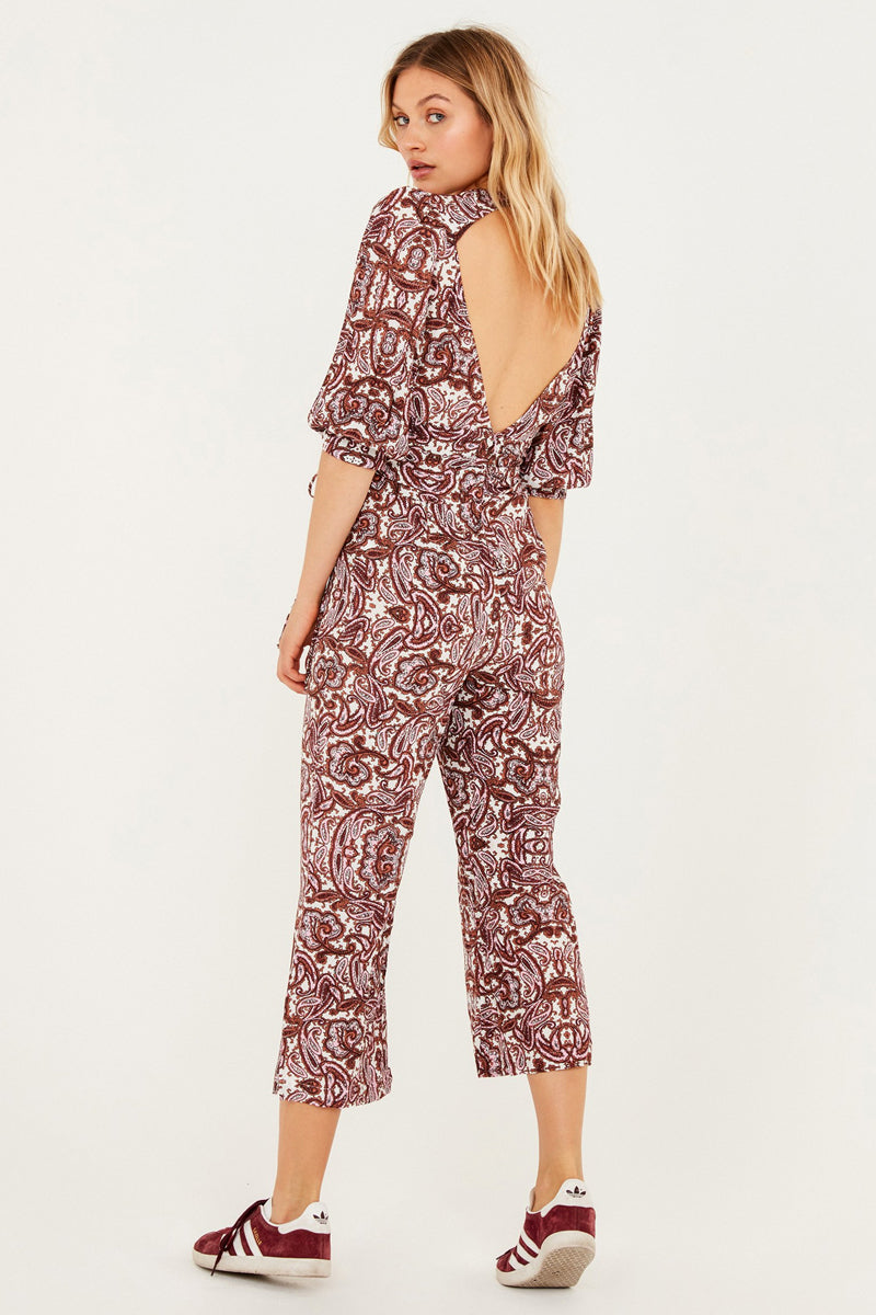 93e54a3302c ... FOR LOVE AND LEMONS Georgi Jumpsuit - Lilac Paisley - undefined  undefined