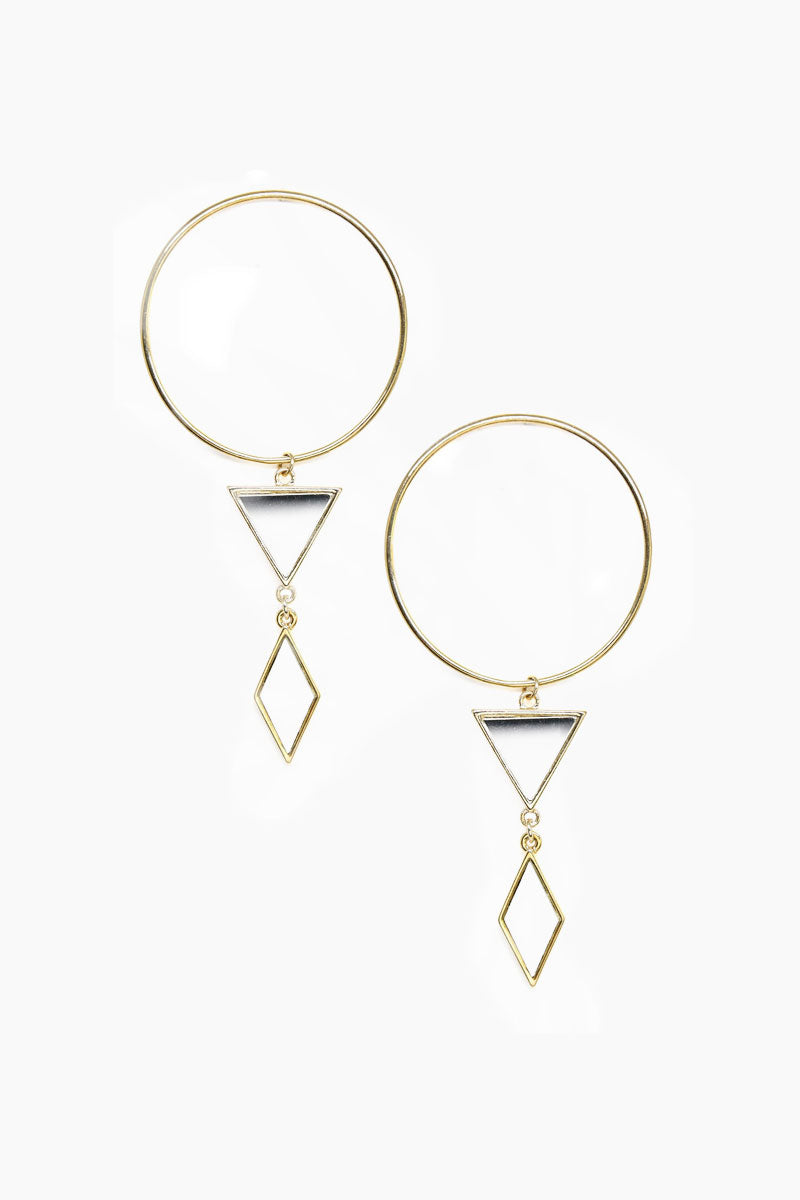 Gilded Geometry Earrings - Gold