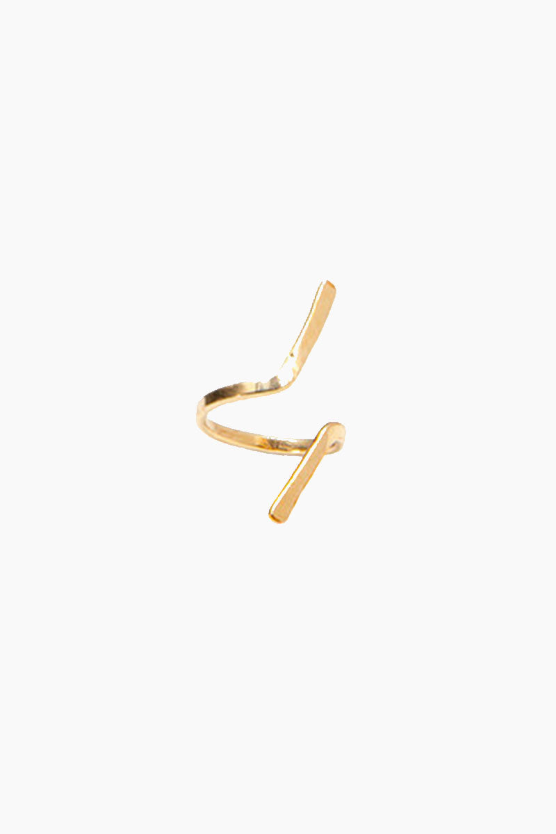 Assym Wrap Ring - Gold