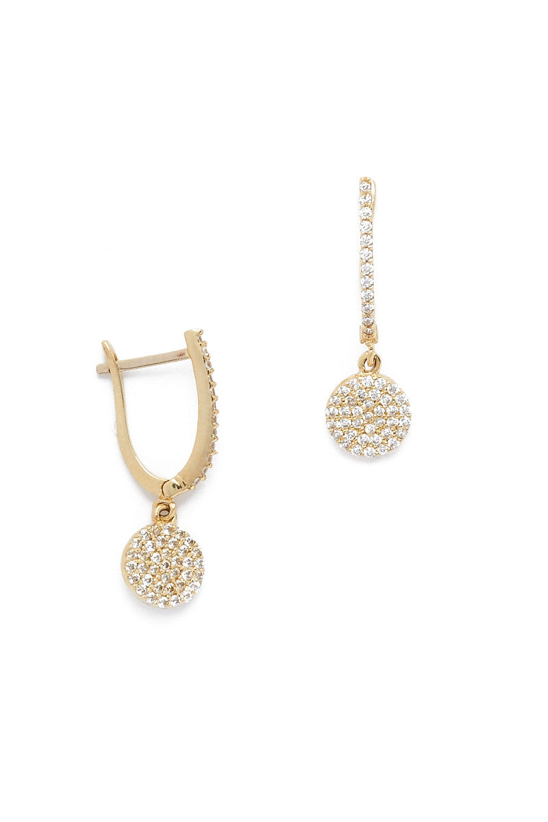Golden Eclipse Pave Earrings